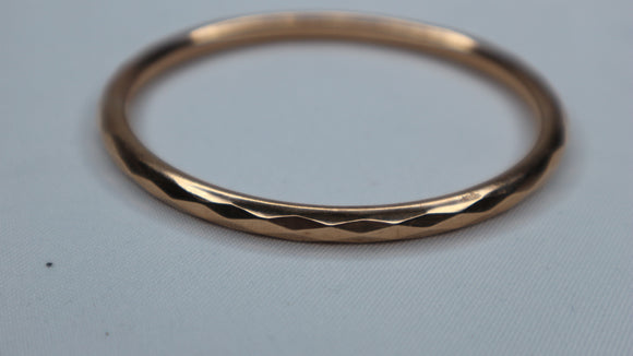 9ct Gold Faceted Design Bangle 1923's
