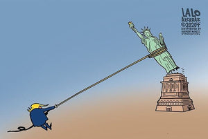 Tear It Down Toon By @LALOALCARAZ1