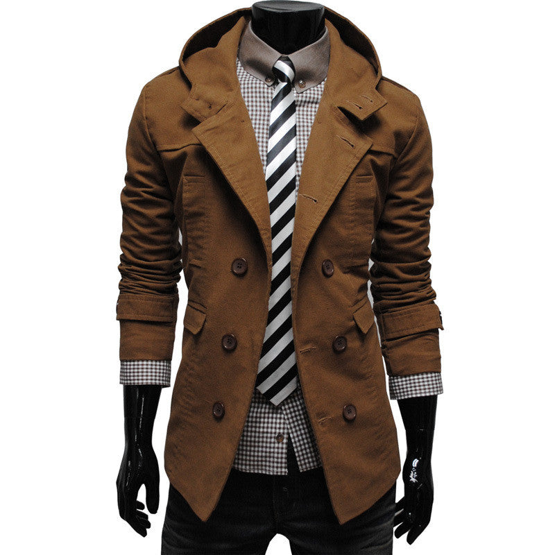 Men's Casual Hooded Coat