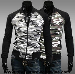 Camouflage Stand Collar Men's Jacket