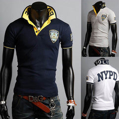 Embroidered NYPD Polo T-Shirt