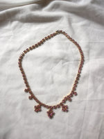 Load image into Gallery viewer, Vintage necklace with pink rhinestones.