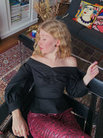 Load image into Gallery viewer, Hedy Blouse in Black