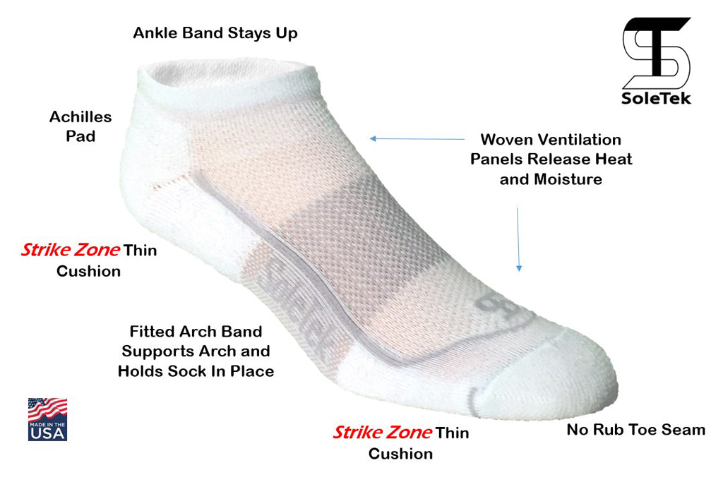 Sole Tek Socks 6-Pack - Medium