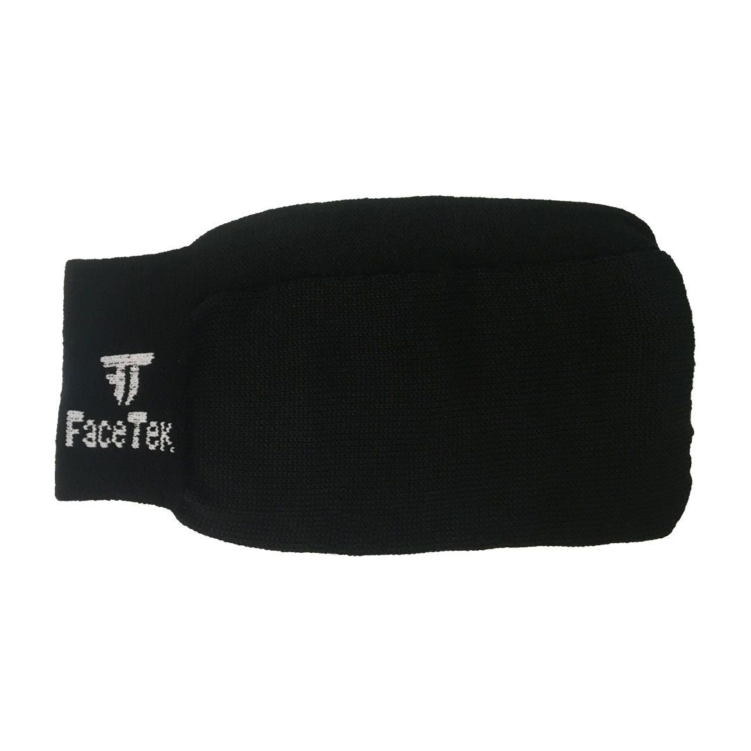 Single Mask Black with White Logo