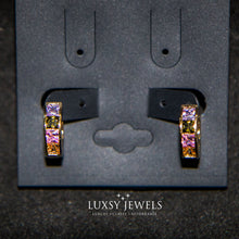 Load image into Gallery viewer, Luxsy Hadid Earrings - Multicolour Stones - Luxsy Jewels