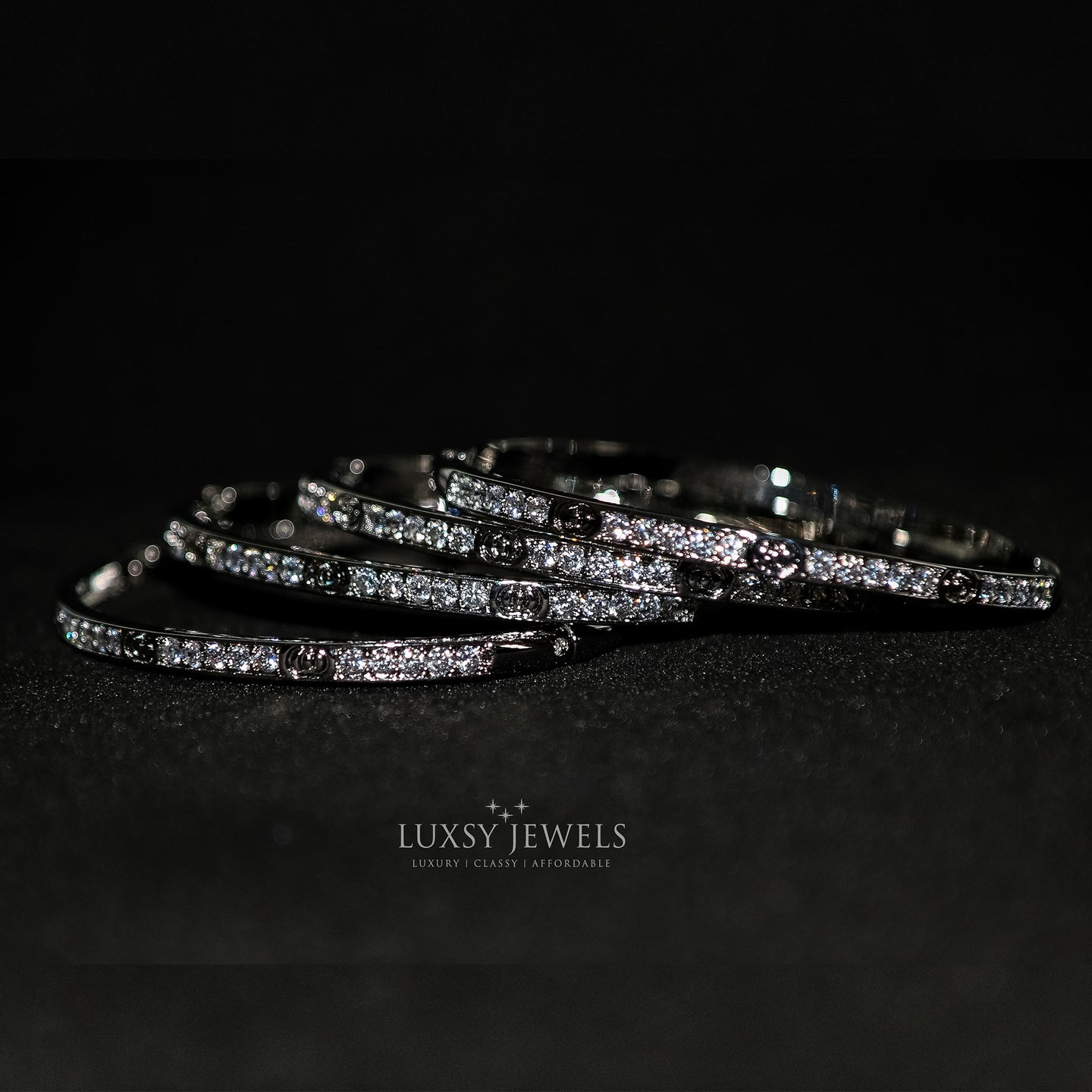 4 Luxsy Eternity Bangles - Luxsy Jewels