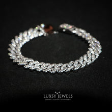 Load image into Gallery viewer, Luxsy Cuban Bracelet 18K - White Gold - Luxsy Jewels