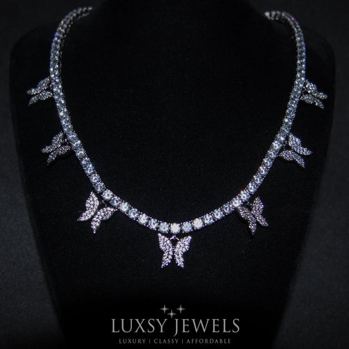 Luxsy Butterfly Choker - 18K White Gold - Luxsy Jewels