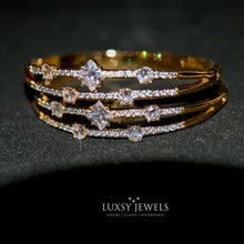 Load image into Gallery viewer, 2 Luxsy Crown Bangles - Luxsy Jewels