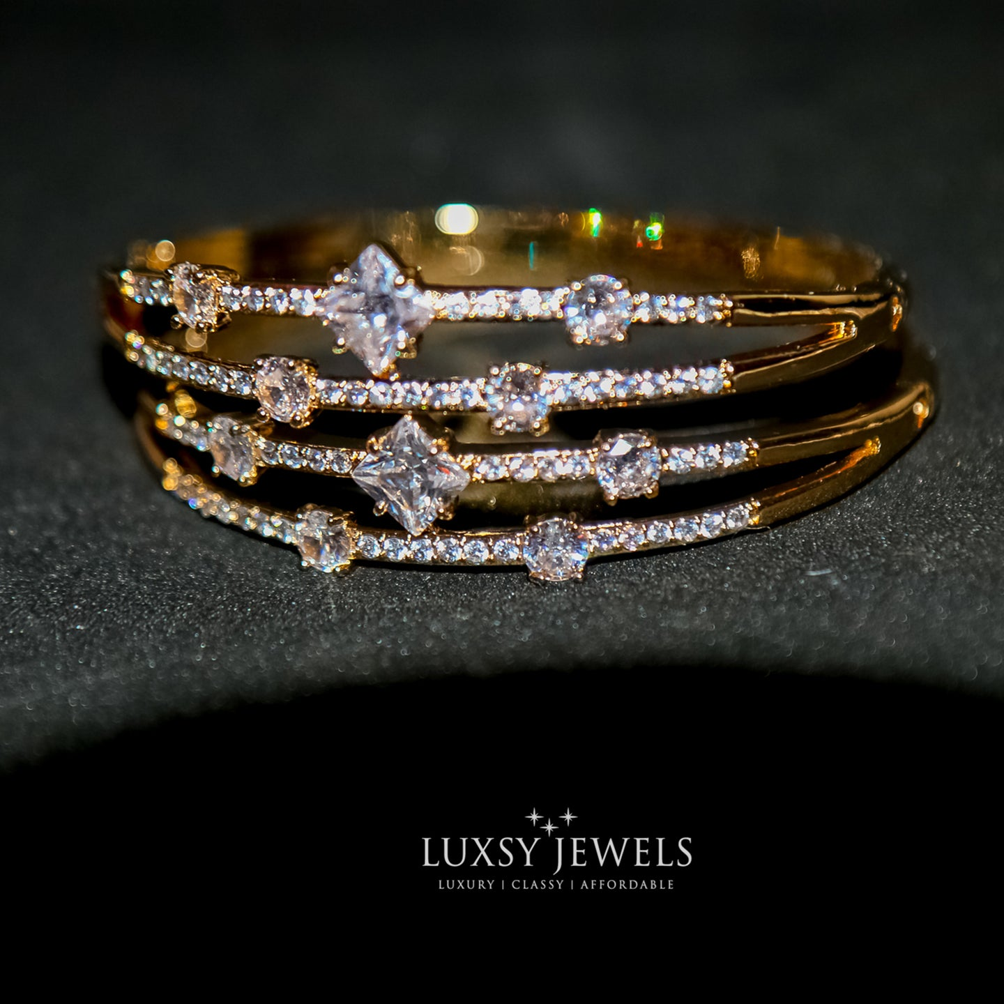 2 Luxsy Crown Bangles - Luxsy Jewels
