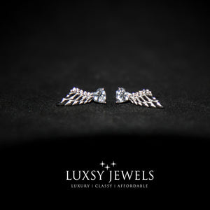 Luxsy Angel Wings Earring - 925 Silver - Luxsy Jewels