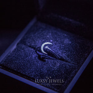 Luxsy Crescent Ring - 925 Silver - Luxsy Jewels