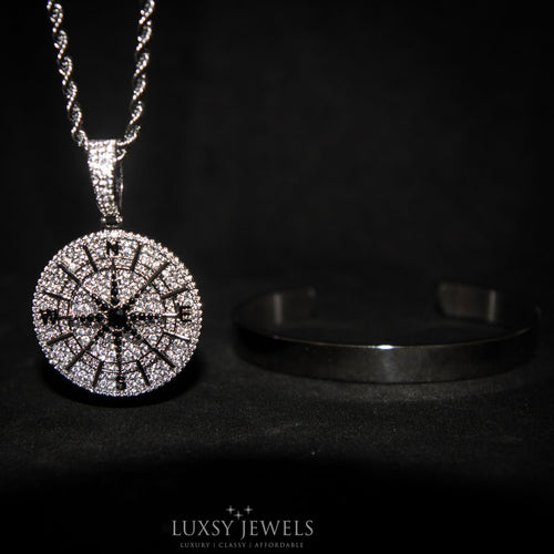 Compass Necklace + Luxsy Cuff Bundle - Luxsy Jewels