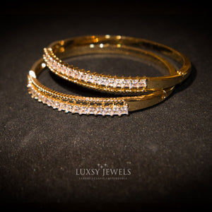 2 Luxsy Baguette Bangles - Luxsy Jewels