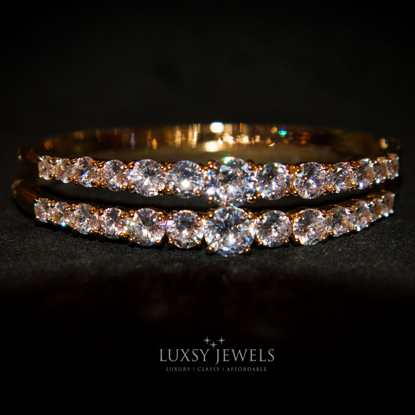 2 Luxsy Layla Bangles - Luxsy Jewels