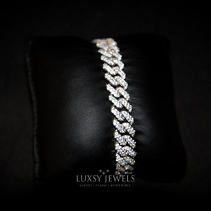 Luxsy Cuban Bracelet 18K - White Gold - Luxsy Jewels