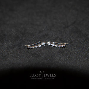 Luxsy Climber Earrings - 925 Silver - Luxsy Jewels