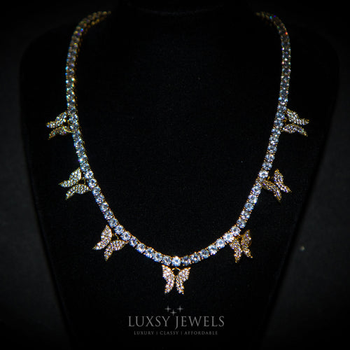 Luxsy Butterfly Choker - 18K Gold - Luxsy Jewels
