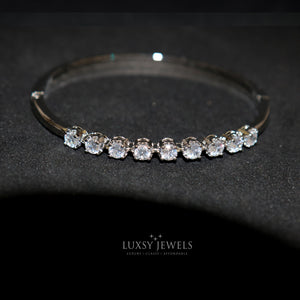Round Cut Lux Bangle - Luxsy Jewels