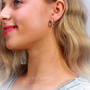 Saffiyah Earrings - 925 Silver - Luxsy Jewels