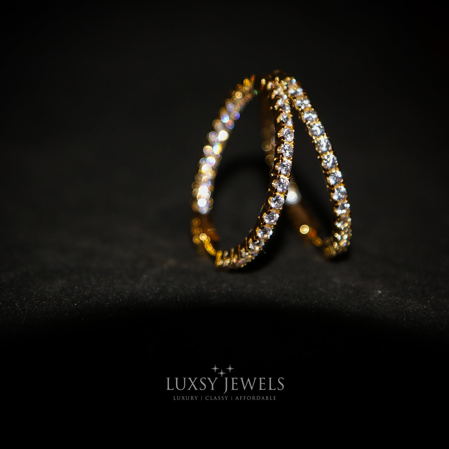 Parissa Earrings - Gold - Luxsy Jewels