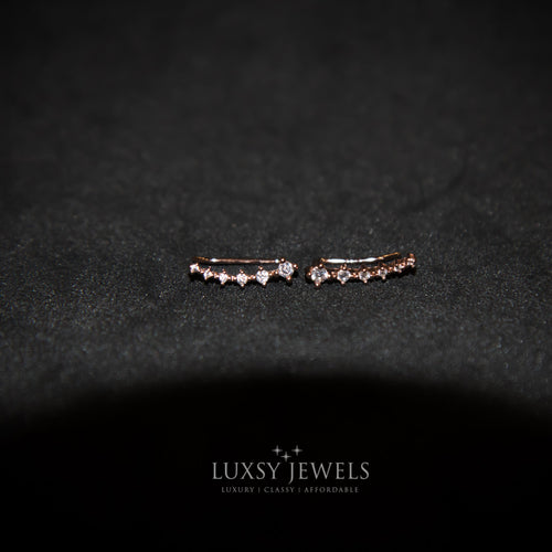 Luxsy Climber Earrings - Rose Gold - Luxsy Jewels