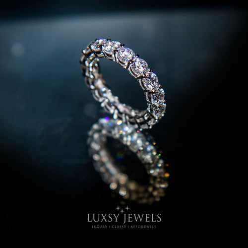 Luxsy London Eternity Ring - 925 Silver - Luxsy Jewels