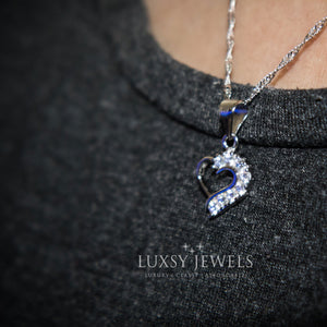 Luxsy Open Heart Necklace - 925 Silver - Luxsy Jewels