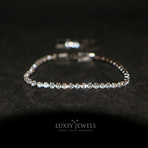 Luxsy Dainty Tennis Bracelet- 3mm - Luxsy Jewels