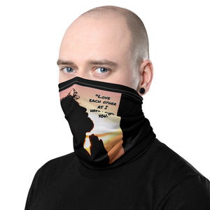 "Christian Neck Gaiter: ""Love Each Other As I Have Loved You"""