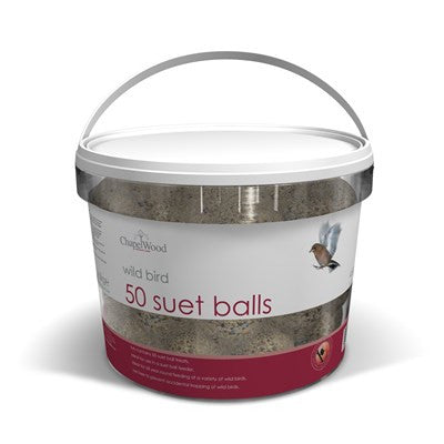 **IN STORE SPECIAL OFFER £6.99 ONLY** Chaplewood Suet Balls Tub (50 in Tub)