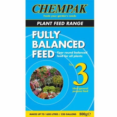 **IN STORE SPECIAL OFFER 800g £6.99 ONLY** Chempak Formula 3 Fully Balanced Feed 800g