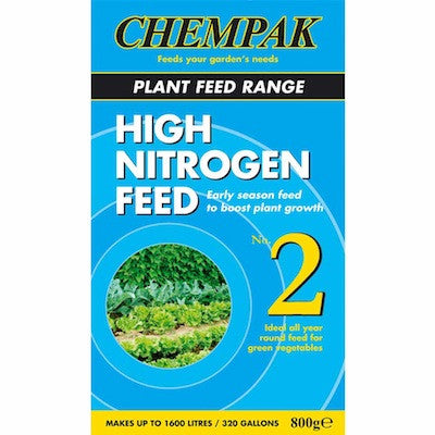 **IN STORE SPECIAL OFFER 800g £6.99 ONLY** Chempak Formula 2 High Nitrogen Feed 800g