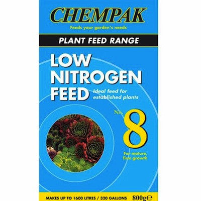 **IN STORE SPECIAL OFFER 800g £6.99 ONLY** Chempak Formula 8 Low Nitrogen Feed 800g