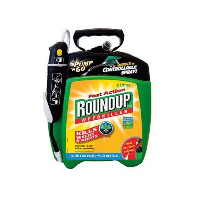 **IN STORE SPECIAL OFFER 5L BOTTLE £ 24.99 ONLY** Roundup Fast Action Pump n Go 5L
