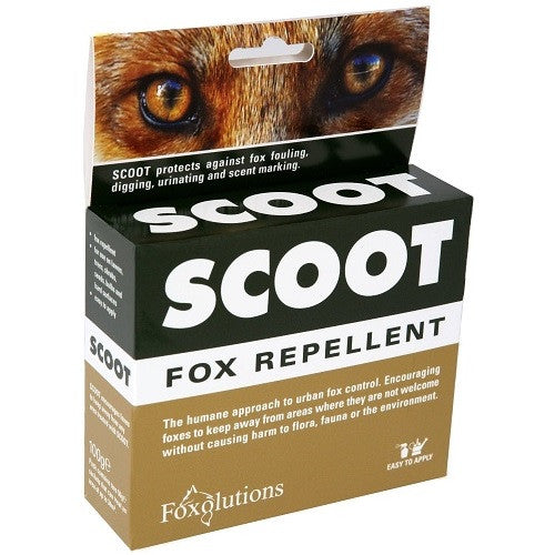 **IN STORE SPECIAL OFFER 100g £6.99 ONLY** Scoot Fox Repellent 100g Treats An Area Up To 34 sqm