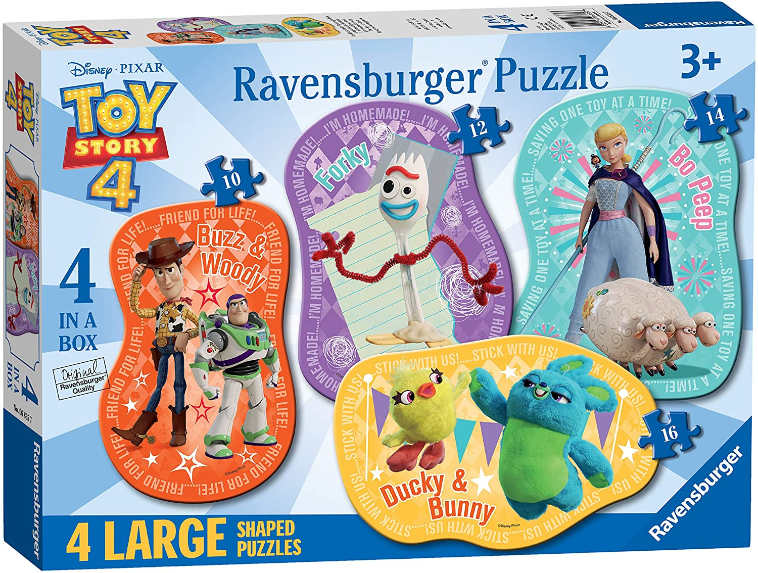 Disney Pixar: Toy Story 4: 4-in-1 Shaped Puzzles