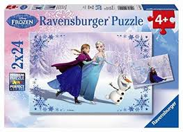 Disney Frozen Sisters 2x24pc Puzzles