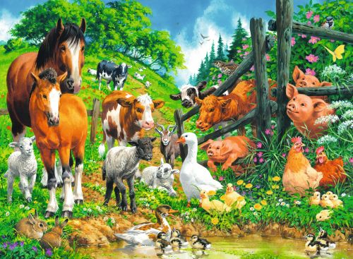 Animals Get Together  100 pc Puzzle