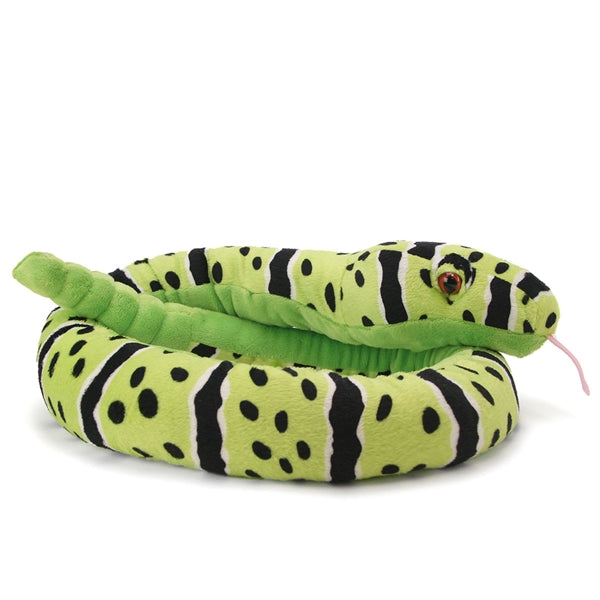 "Plush Snake 54"" - Green Rock Rattlesnake"