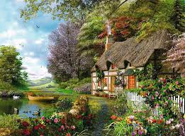 Country Cottage - 1500 pc Puzzle