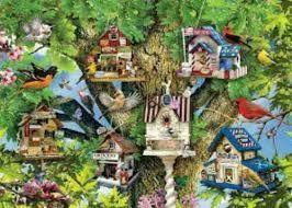 Bird Village  1000 pc
