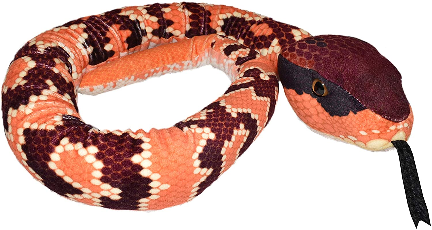 "Plush Snake 54"" - Eastern Cottonmouth"