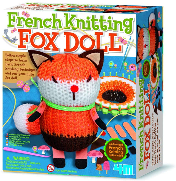 4M - French Knitting Fox Doll