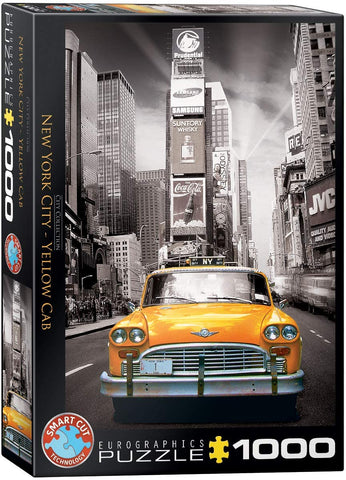 New York City, Yellow Cab - 1000pc Eurographics Puzzle