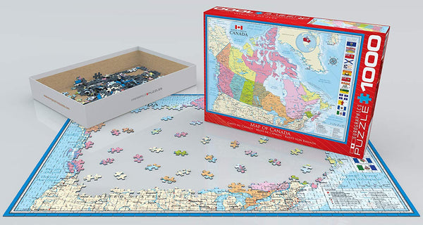 Map of Canada - 1000pc Eurographics Puzzle