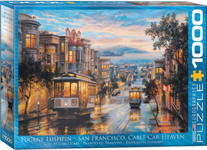 San Francisco, Cable Car Heaven - 1000pc Eurographics Puzzle