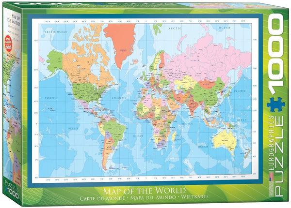 Map of the World - 1000pc  Eurographics Puzzle