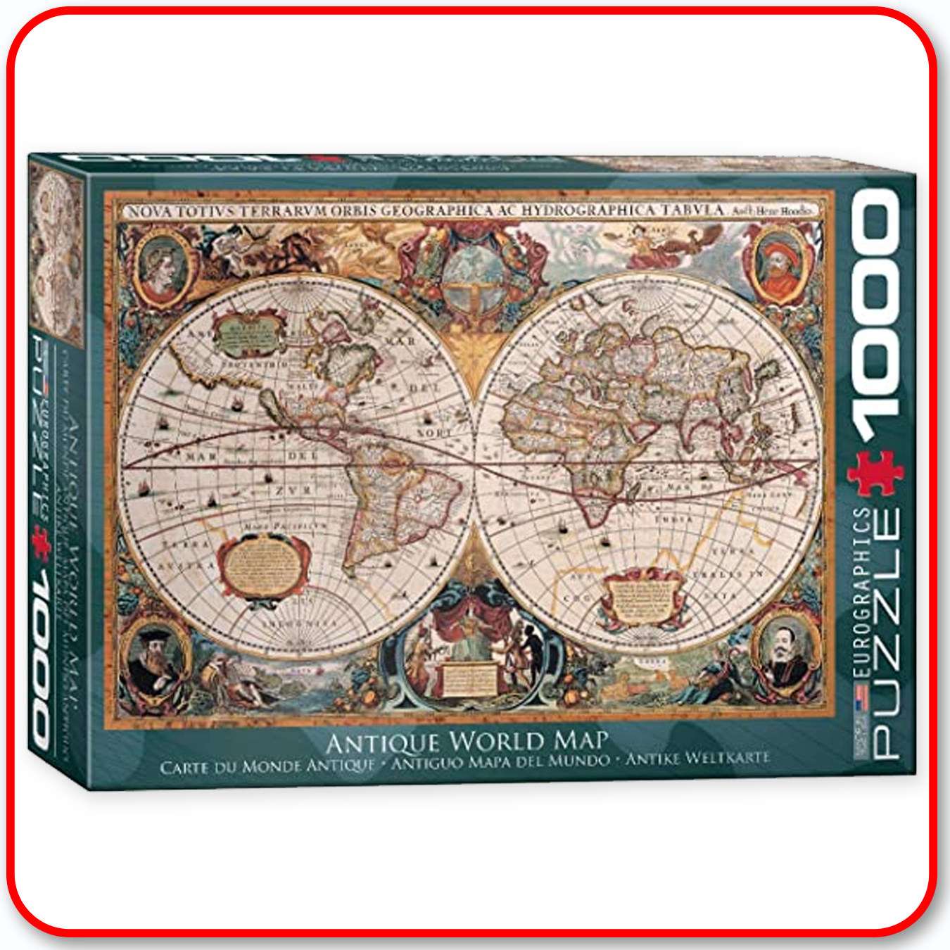Antique World Map - 1000pc Eurographics Puzzle